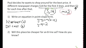 how to write an equation in point slope form with 2 points calculator linear equations on
