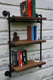 Industrial Bookcase Diy Iron Pipe Wall Wood Wall Shelf Bookcase Shelf Kitchen Bathroom