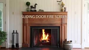 riveted fireplace screen with sliding door and tool set sku 13395 plow hearth you
