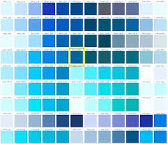 Shades Of Blue Paint Color Chart Ppg Blue Color Chart 2019
