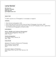 Freelance Photographer Resume Simple Resume Template Summary Photographer Ashitennet
