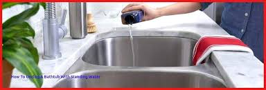unclogging shower drain with standing water how to unclog a kitchen sink with standing water with