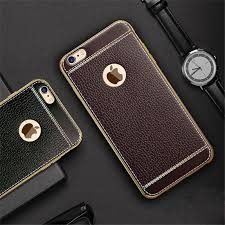 white trim brown and black leather iphone 7 plus cases