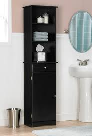 black bathroom wall cabinets. furniture wonderful bathroom wall cabinets storage with linen tower using black paint finishes for including n