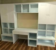 wall unit with desk wall unit desk shelves and built in bookcase with units white pertaining