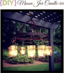 diy mason jar candle ier outdoor chandelier