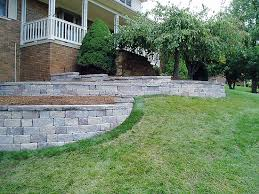 Small Picture Block Retaining Wall Design Great How To Build A Concrete Block