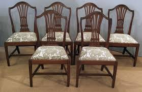 set of 6 antique gany dining chairs