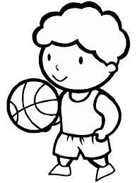 Kleurplaat Basketball 08 Clip Art Library
