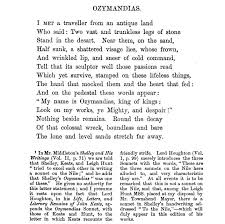 best poetry images poem literature and poetry ozymandias poem poetry percy bysshe shelley look on my works ye