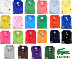 Lacoste Polo Shirt Color Chart Lacoste Polo Shirts A Color For Every Occasion In 2019
