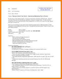 Sample Email To Recruiter With Resume email to recruiter sample Minimfagencyco 2