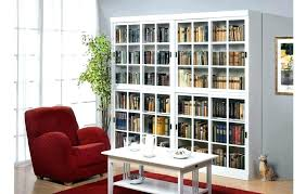 bookcase sliding glass doors white with door bookcases b