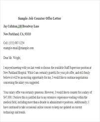 Sample Job Counter fer Letter