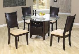 Wine rack dining table Lazy Susan Walmart Deep Cappuccino Finish Dinette With Wine Rack Glass Top Table