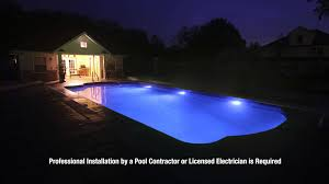 Inground pools at night Gunite Led Pool Lights See Your Pool In Whole New Light Home Stratosphere Led Pool Lights See Your Pool In Whole New Light Youtube
