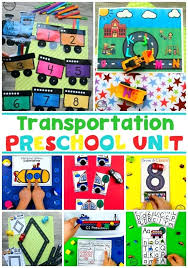 Transportation Worksheets And Centers Preschool Theme Planning ...