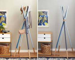 Diy Wood Coat Rack DIY Projects DIY Wooden Dowel Coat Rack Hang 'Em in Style 100 6
