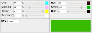 Rgb To Pms Color Conversion Chart Cmyk To Rgb Rgb Cmyk Hex Online Color Code Converter
