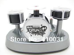 mini finger drum set novelty desk al toy touch drumming led light jazz percussion for kids