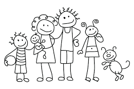 Family Coloring Pages For Preschoolers Members Pdf Animal Printable