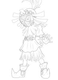 Majoras Mask Link Coloring Pages
