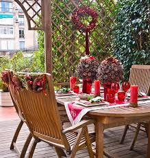 ideas for patio furniture. Outdoor-dining-table-christmas-decoration-ideas-pinecones Ideas For Patio Furniture