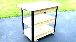 grill prep station outdoor plans cooking unique serving outdoor serving cart