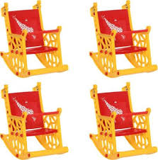 <b>Supreme</b> Giraffe Kids Rocking Chair Set Of 4, <b>Red</b> & <b>Yellow</b> Plastic ...
