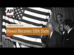 Image result for 1959, the United States flag received its 50th star as then-president Dwight D. Eisenhower proclaimed Hawaii as the 50th state..