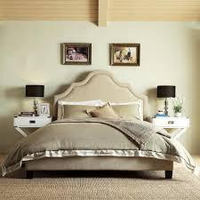 Full Upholstered Bed Frame Safavieh Hathaway Light Beige Full Upholstered Bed Fox6214a F