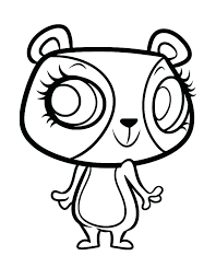 Littlest Pet Shop Coloring Pages Panda At Getdrawingscom Free For