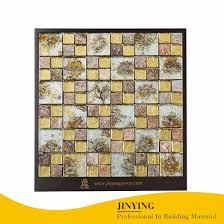 china foshan supplier square crystal glass wall mosaic tile china mosaic glass mosaic