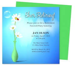 farewell invitation template free inspirational party invite word