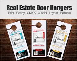 Door Hanger Design Template Mesmerizing Impressive Door Hanger Design Real Estate With Real Estate Door