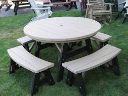 outdoor furniture poly 5 round table 5 piece set