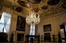 brustolon room with murano chandelier ca rezzonico venice italy