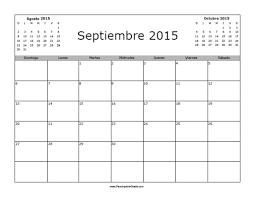 Calendario Septiembre 2015 En Blanco Para Imprimir Gratis