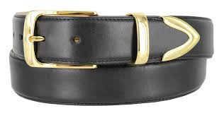 3508 men s smooth genuine casual dress leather belt with gold plated buckle set 1 3 8 wide
