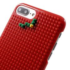 for iphone 7 plus diy building block hard shell cover case red tree
