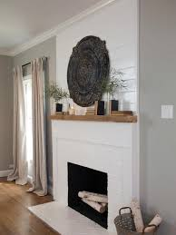 shiplap paneling the original fireplace brick was painted white