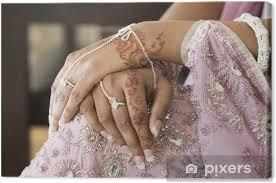 Obraz Nevěsta Ruka S Henna Tetování A Bižuterie Indická Svatba Na Plátně
