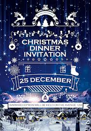 christmas dinner poster christmas dinner invitation poster template psd background
