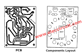 pcb and components layout of the circle 10 led running lights mini pcb and components layout of the circle 10 led running lights mini electronics projects electronics projects led dan lighting