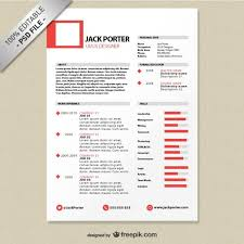 Creative resume template download free Free Psd