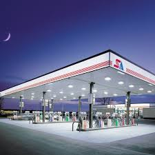 petrol station lighting for forecourt canopies cl series direct mount canopy light