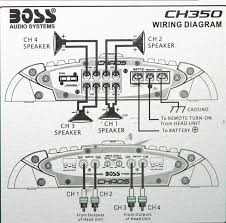 boss chaos cx350 400 watt 4 channel car audio class a b amplifier how to wire a 4 channel amp to 4 speakers and a sub at 4 Channel Car Amplifier Wiring Diagram
