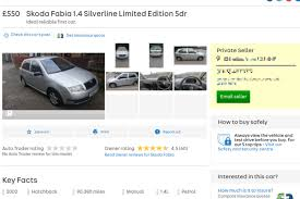 celebs go crazy for 550 skoda fabia on auto trader