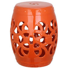 safavieh imperial vine orange garden patio stool