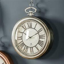 oxford pocket watch wall clock 24cm